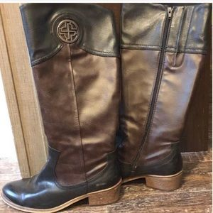 Bare trap knee high boots